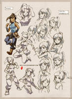 Sketch_young Korra_pose and expression by kelly1412