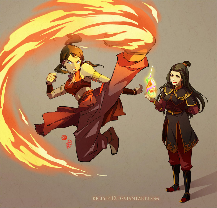 Korra  Firebending Training With Azula By Kelly1412 On Deviantart-4789