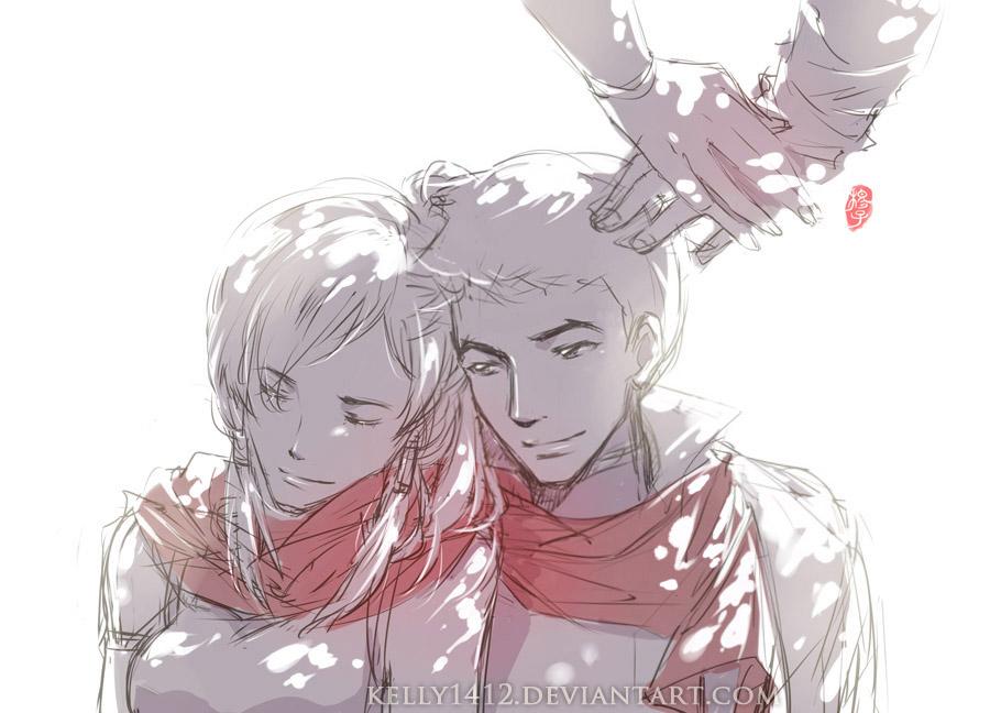 Makorra _ Beside You _ Sketch by kelly1412