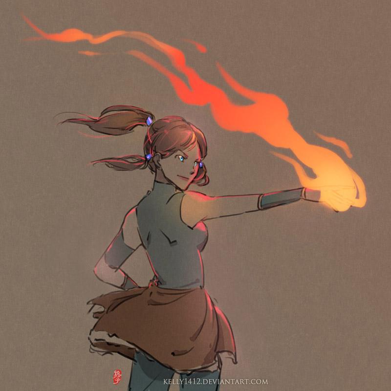 doodle_Korra firebending by kelly1412
