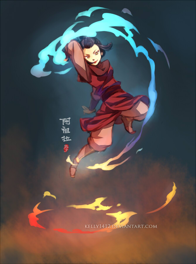 Fire Prodigy  _ Azula by kelly1412