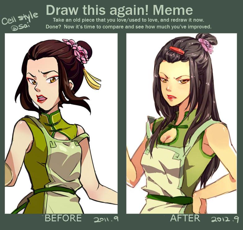 Meme_Teashop Waitress Azula_Before n After by kelly1412