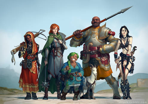 Pathfinder RPG party commission