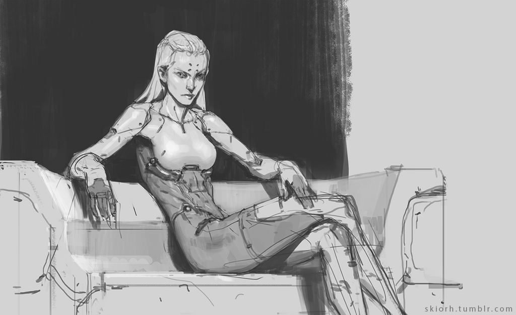 Cyborg Lady by Skiorh