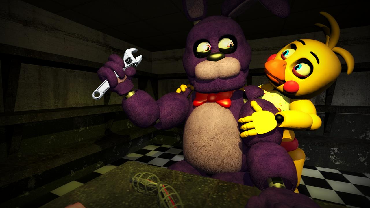 Sfm fnaf bonnie x toy chica by banana454545 on deviantart