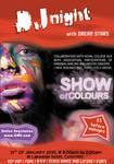 DJ night show of colours