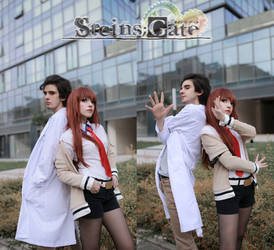 Okabe and Kurisu Cosplay by DEATHNOTE---L