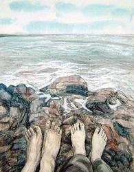 Romance at the beach by gablim