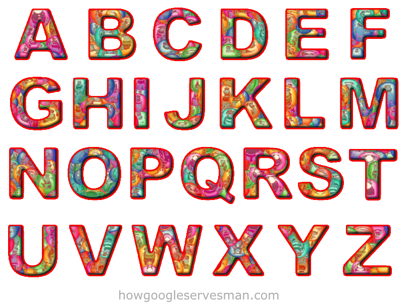 Cut Copy Paste Colorful Alphabet Letters Red Outli by leonardv2 on
