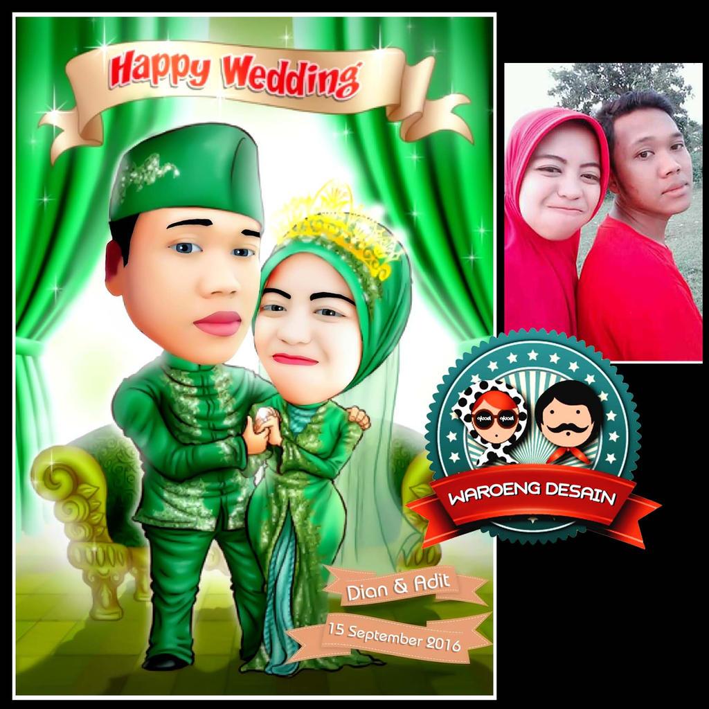 Wedding Hijab waroeng karikatur by QBoeL on DeviantArt