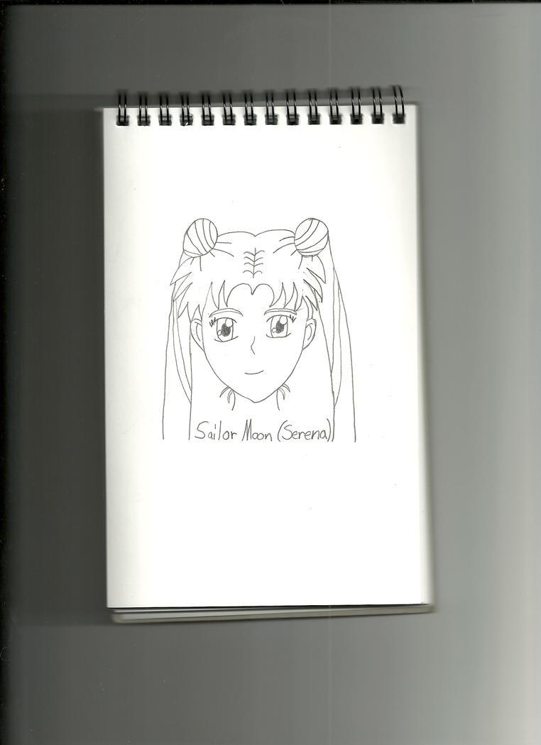 Sailor Moon Headshot Sketch by QueenLioness7
