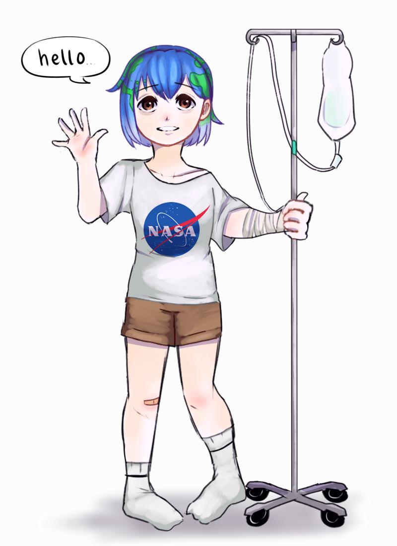 Earth-chan's okay by DatWeirdoWhoLuvsMilk