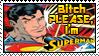 Superman Stamp by Yesnoshroom