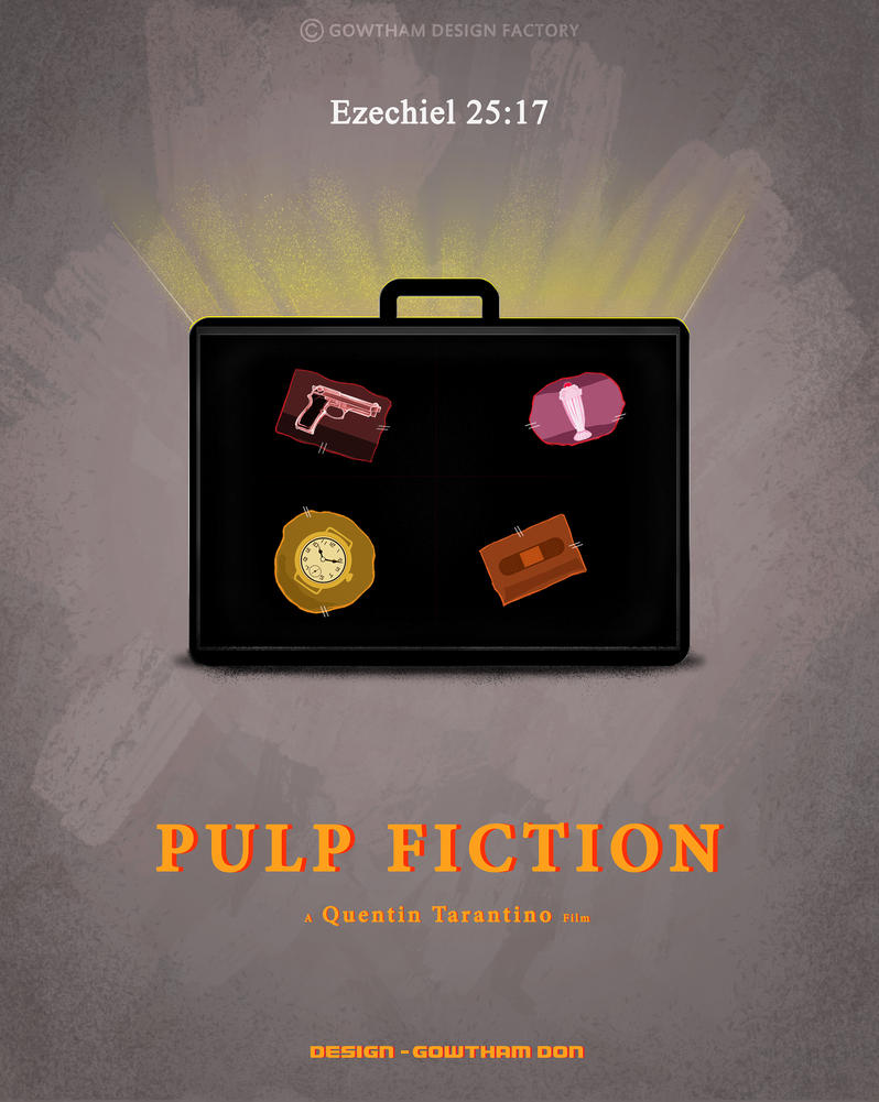 Pulp fiction minimal poster by gowthammurali on deviantart for Minimal art 2016