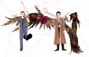Dean/Castiel by nezirio