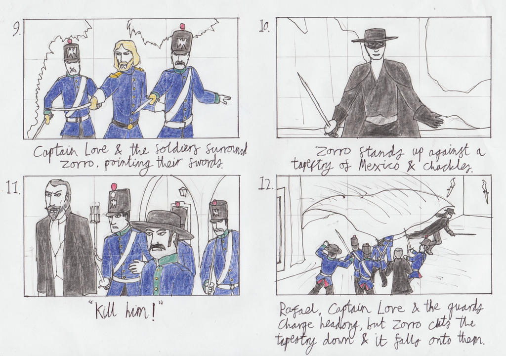 The Mask of Zorro storyboard 3 by toht981