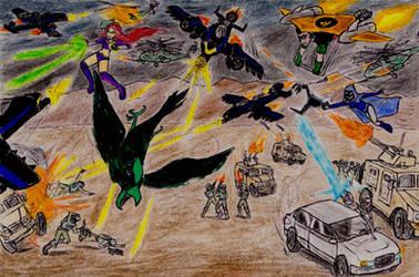 Teen Titans Meets GI Joe - The Convoy attack