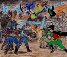 Teen Titans vs Cobra