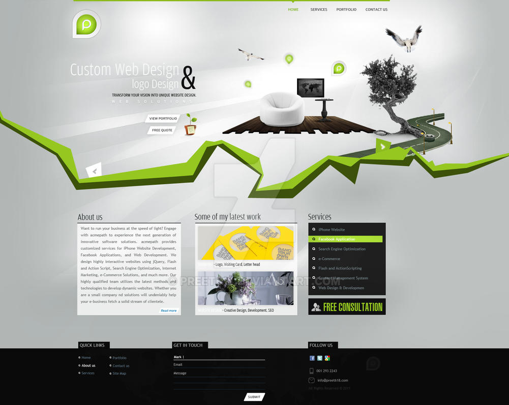 Portfolio Design by preet618
