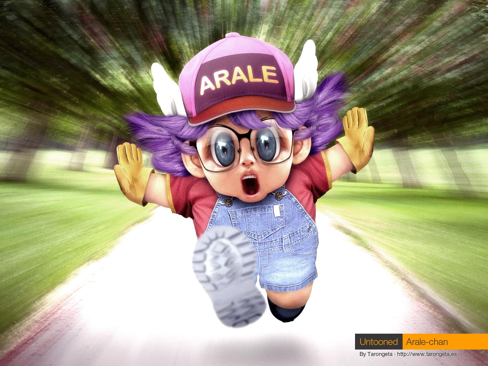 Untooned Arale-chan by gomitas