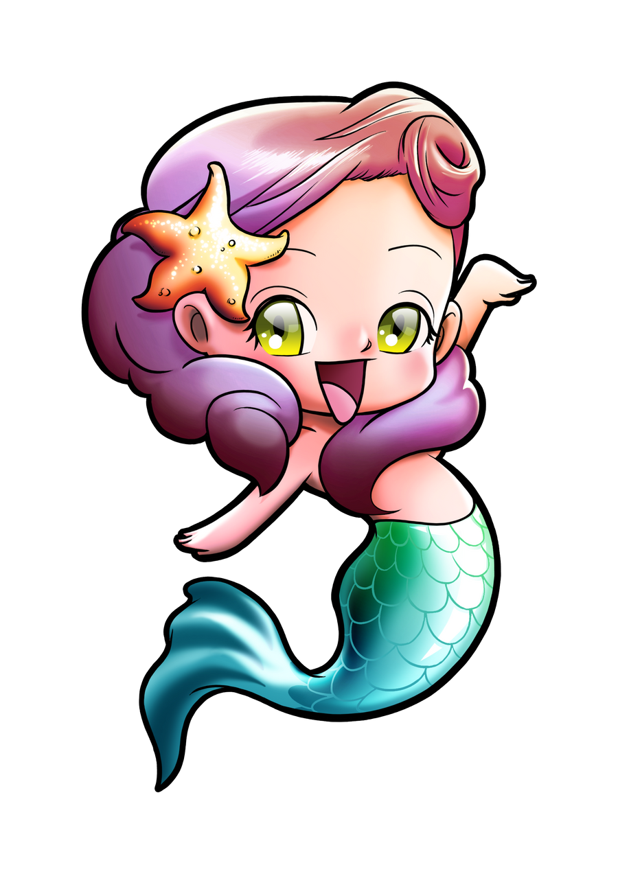 cute mermaid drawing chibi mermaid by gomitas on deviantart 973
