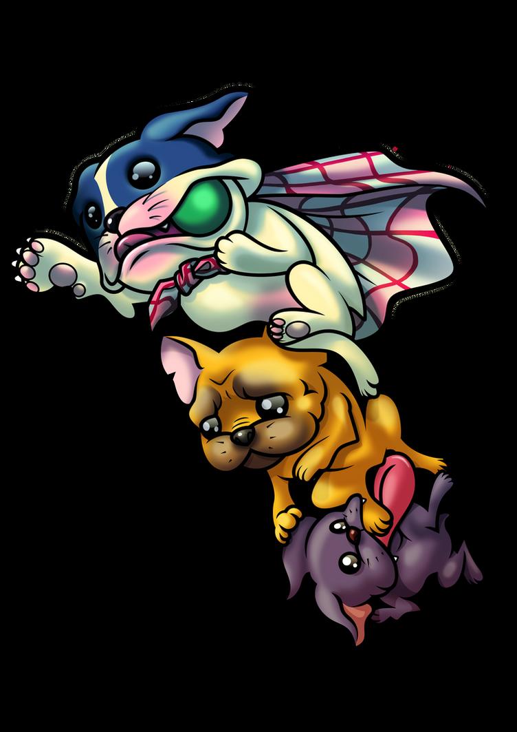 Momo, Nana and Hachi by gomitas