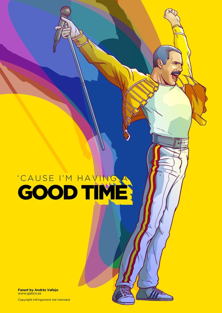 Freddie Mercury fanart by gomitas