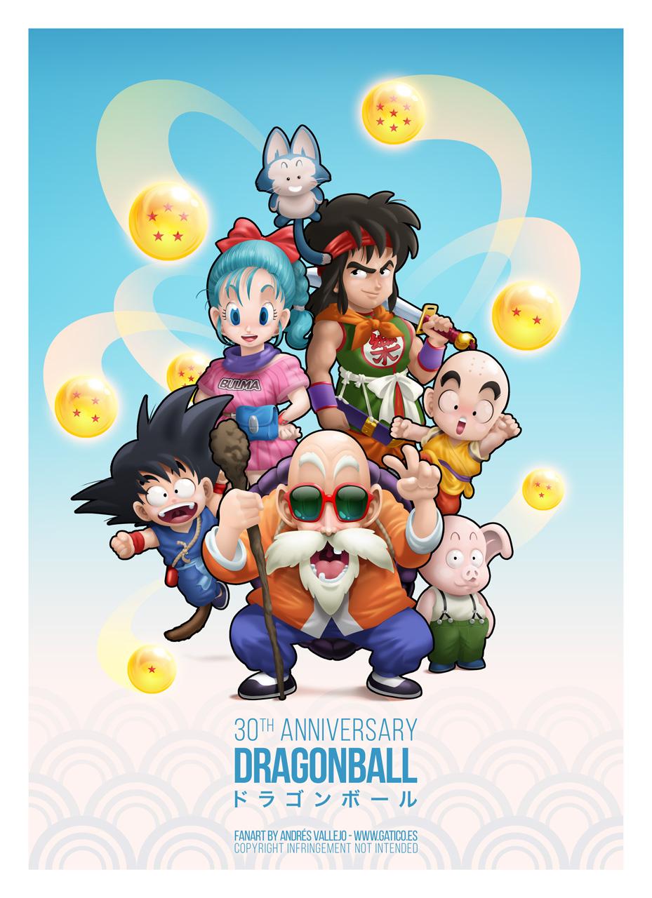 Dragon Ball 30th anniversary fanart by gomitas
