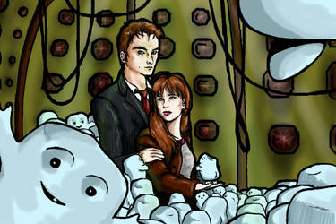 Doctor Who and Donna Noble by cutey-storm