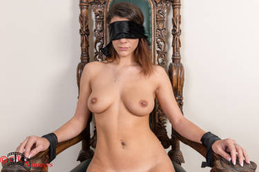 Queen is blindfolded and tied nude to her Throne by BenBec79