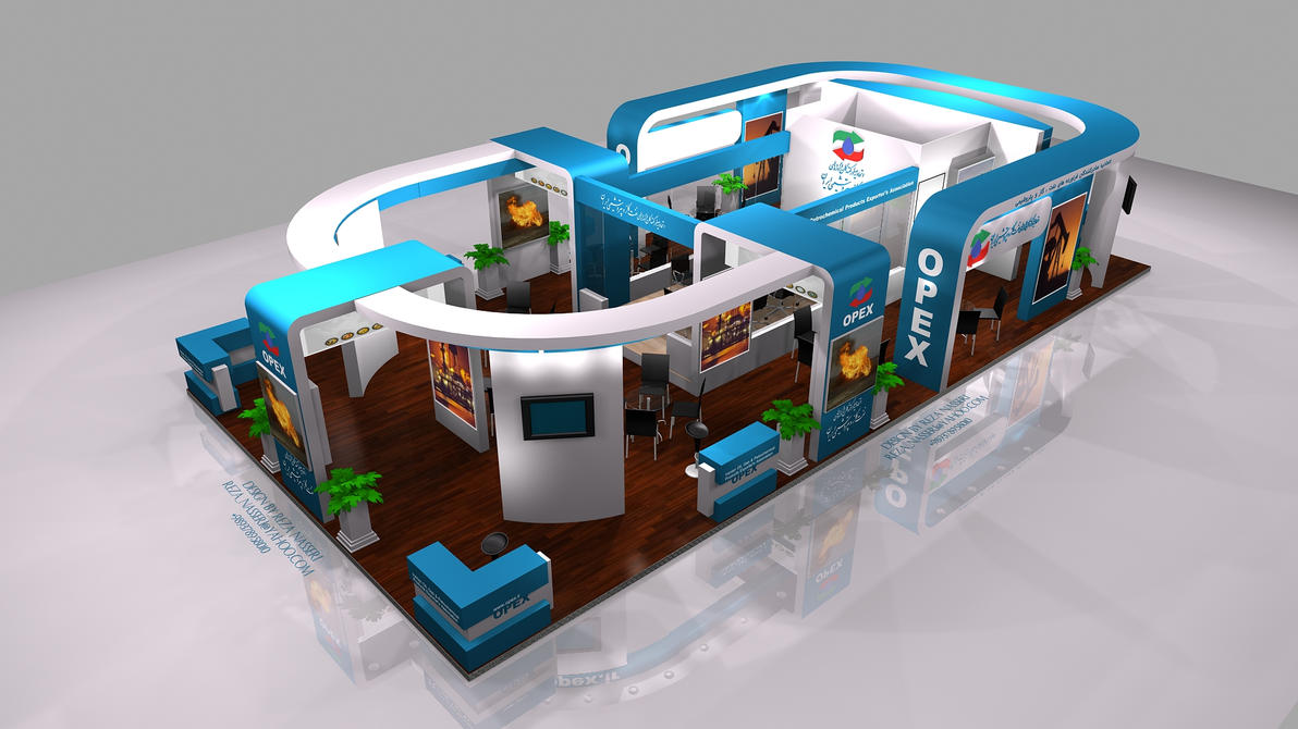D Exhibition Stall Design Free Download : Opex exhibition stall design by reza nass