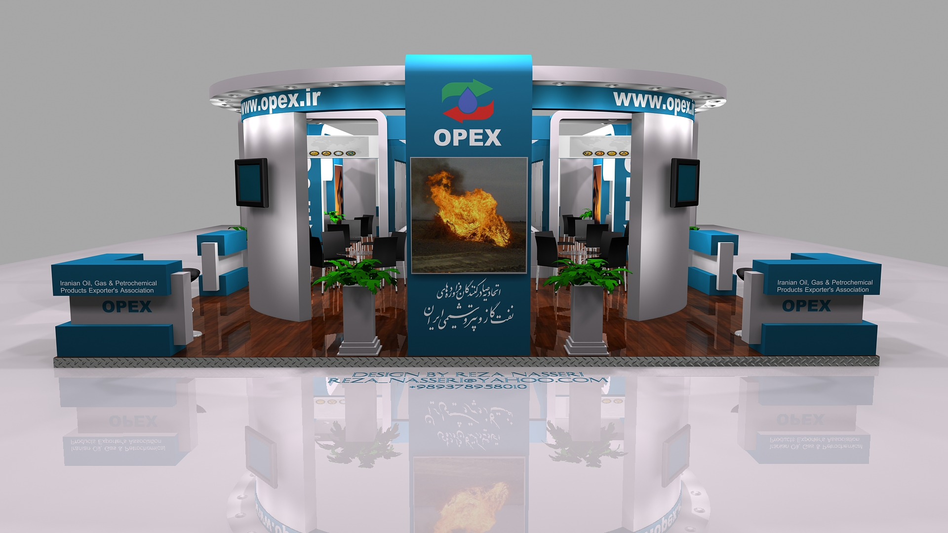 D Exhibition Stall Design Full : Opex exhibition stall design by reza nass