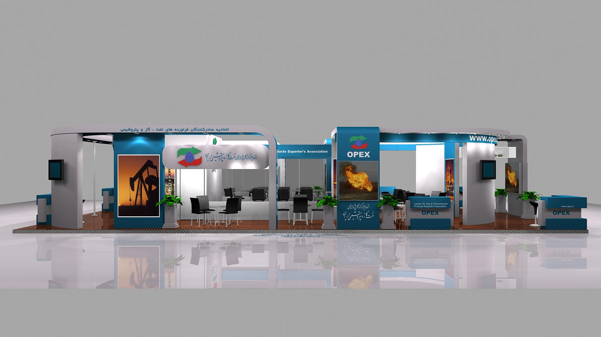 Exhibition Stall Designs D : Opex exhibition stall design by reza nass