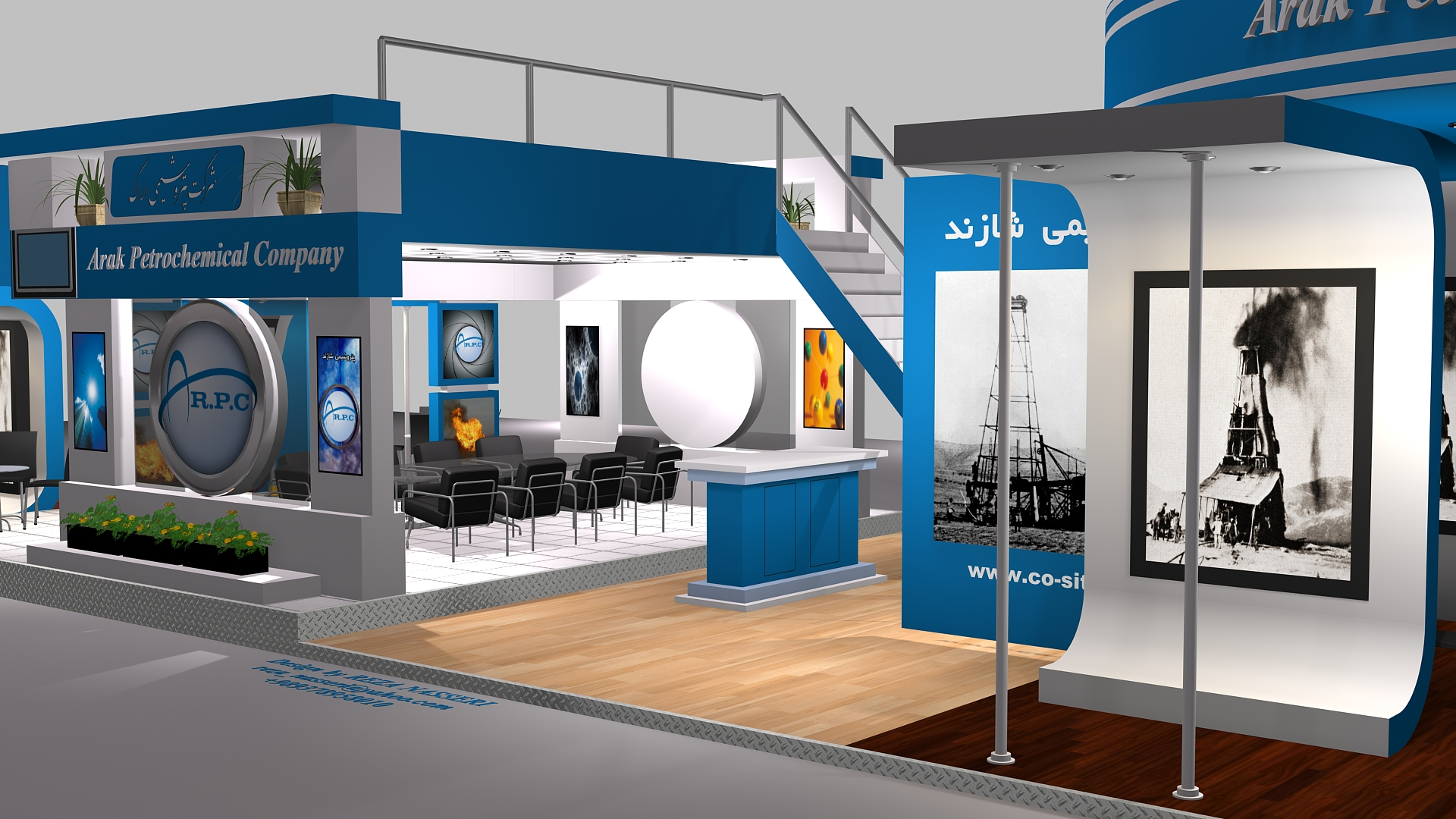 D Exhibition Stall Design Full : Shazand exhibition stall design by reza