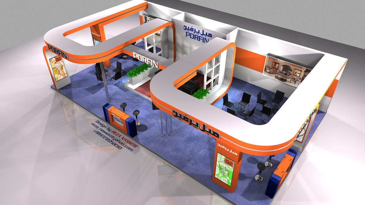 D Exhibition Stall Designer Job : Porfin exhibition stall design by reza nasser