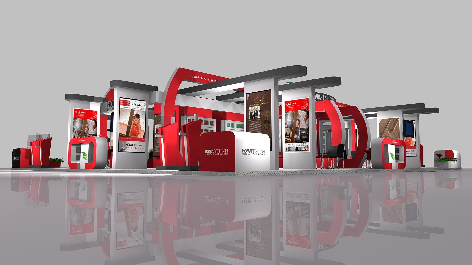 D Exhibition Stall Design : Homa reshtan exhibition stall design by reza