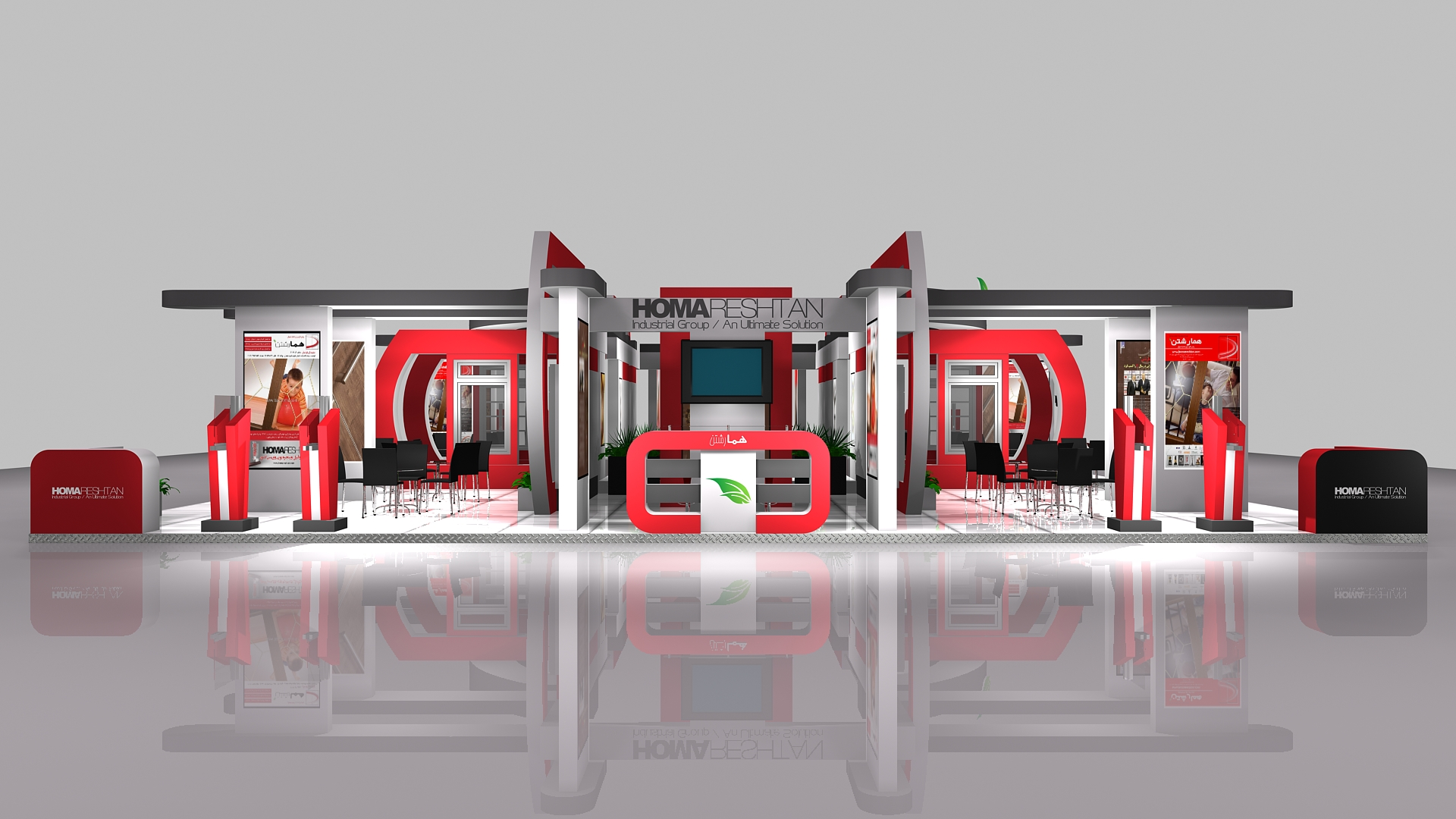 Exhibition Stall Designs D : Homa reshtan exhibition stall design by reza