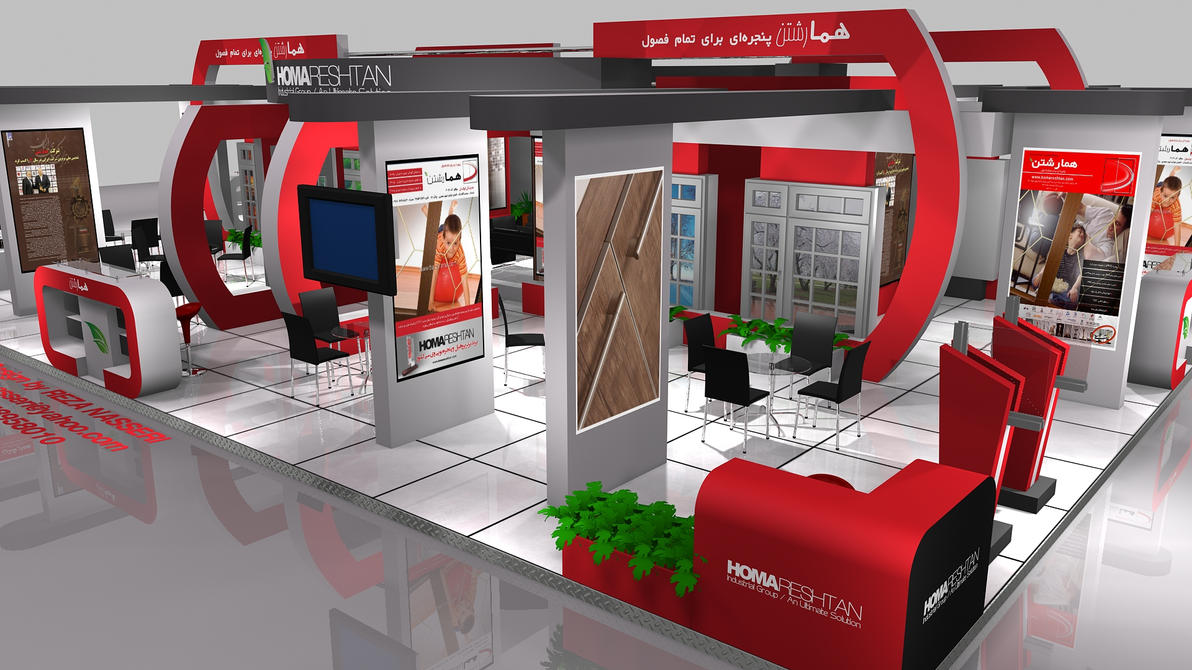 D Exhibition Stall Design Full : Homa reshtan exhibition stall design by reza