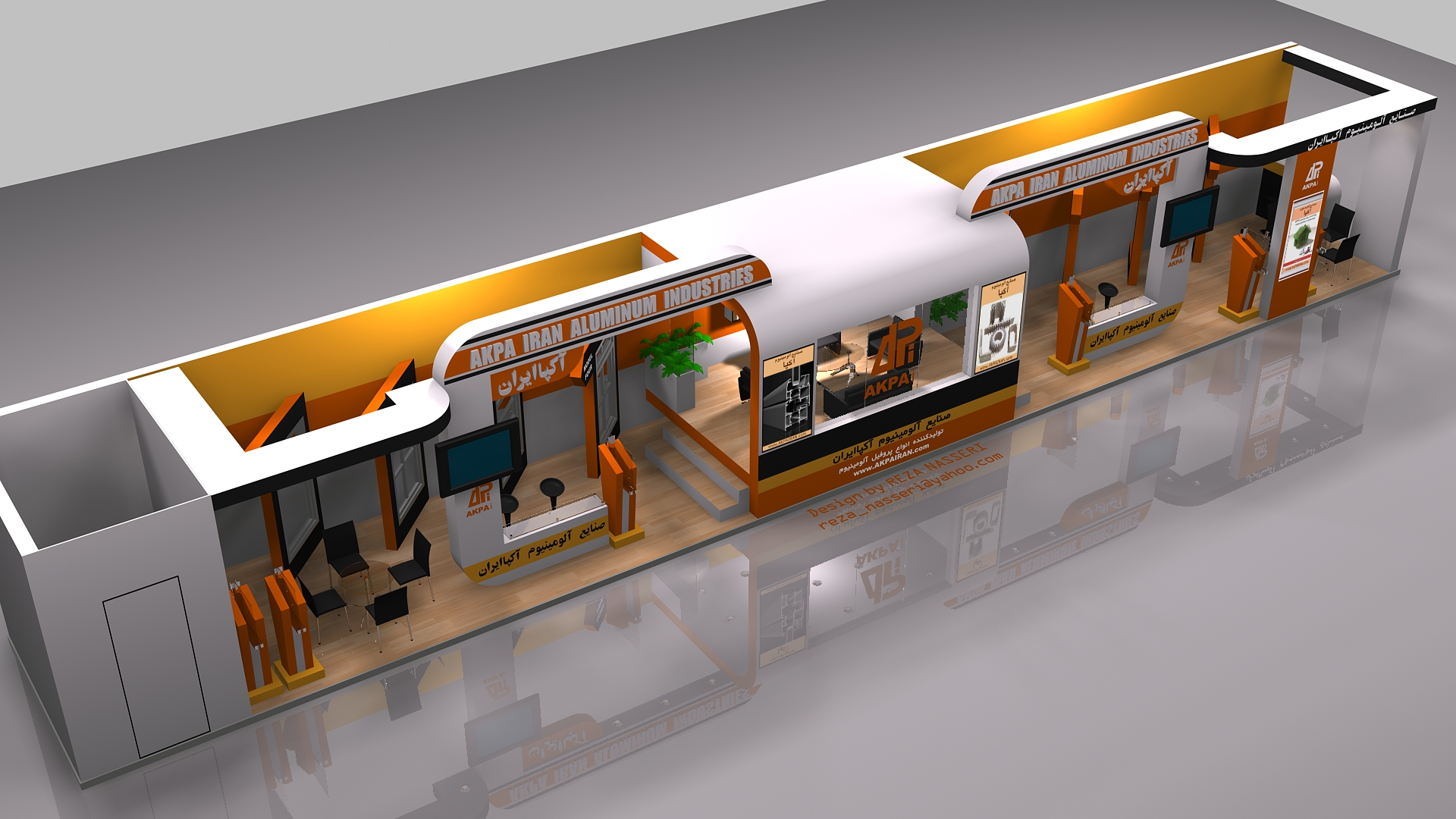 D Exhibition Stall Design Full : Akpairan exhibition stall design by reza nas