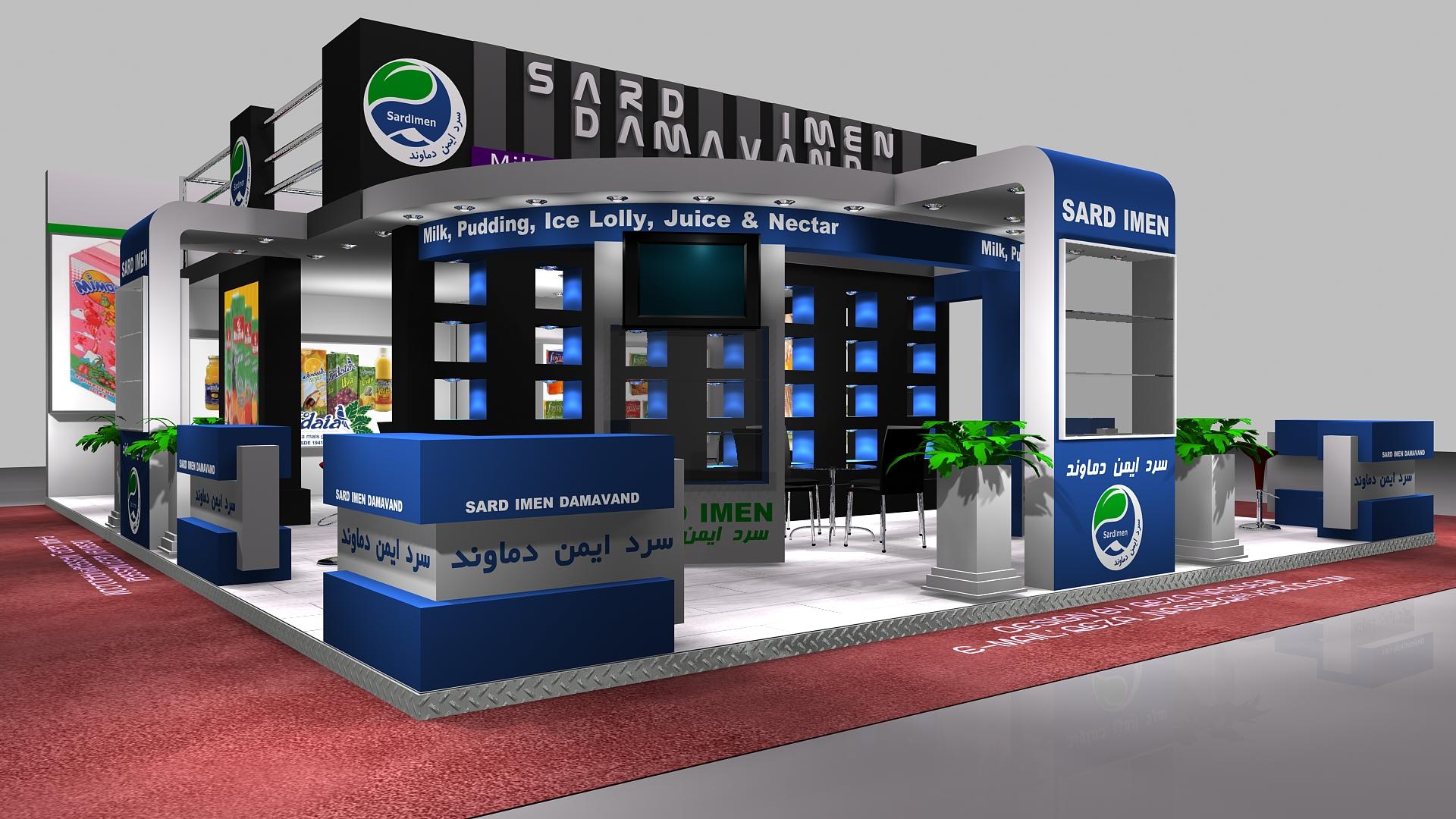 D Exhibition Stall Design : Sard imen damavand exhibition stall design b by