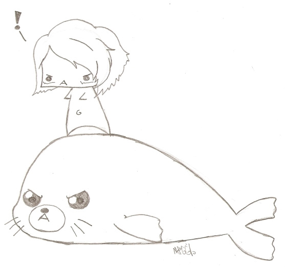 Me riding a baby harp seal obv by GangrapeAGo-Go on DeviantArt Baby Arctic Seal Drawing
