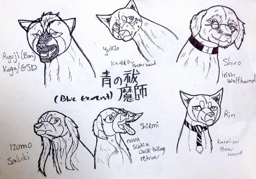Blue Exorcist Cast Headshots by yugiohfreakXD