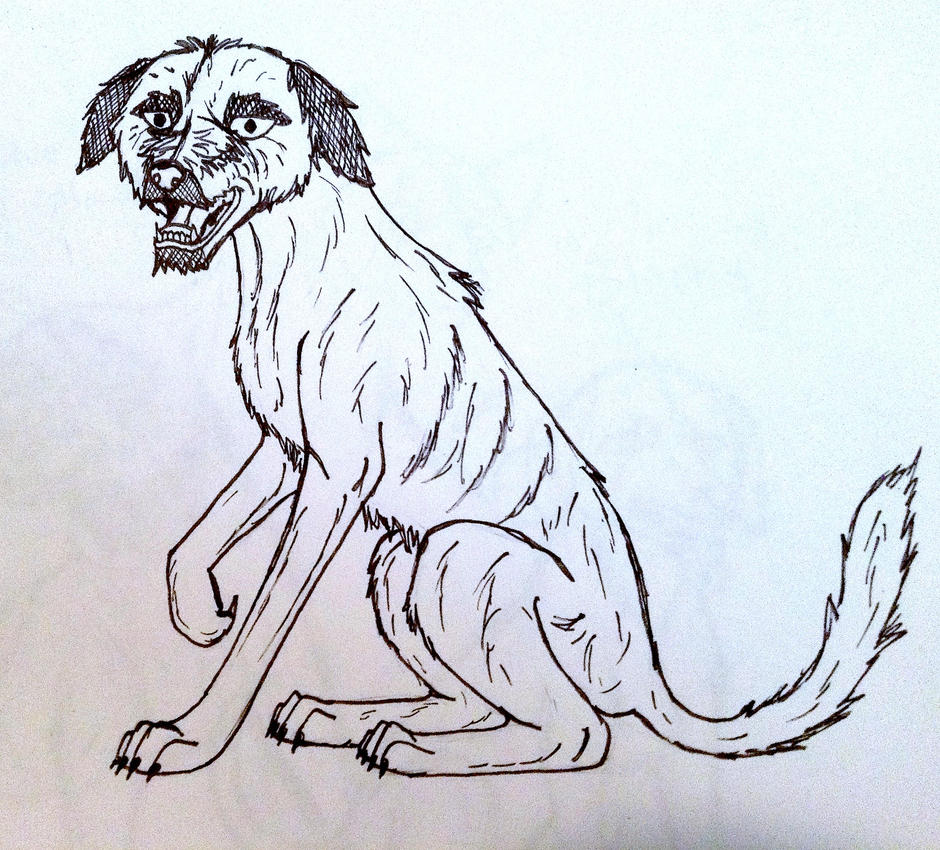 irish Wolfhound by yugiohfreakXD