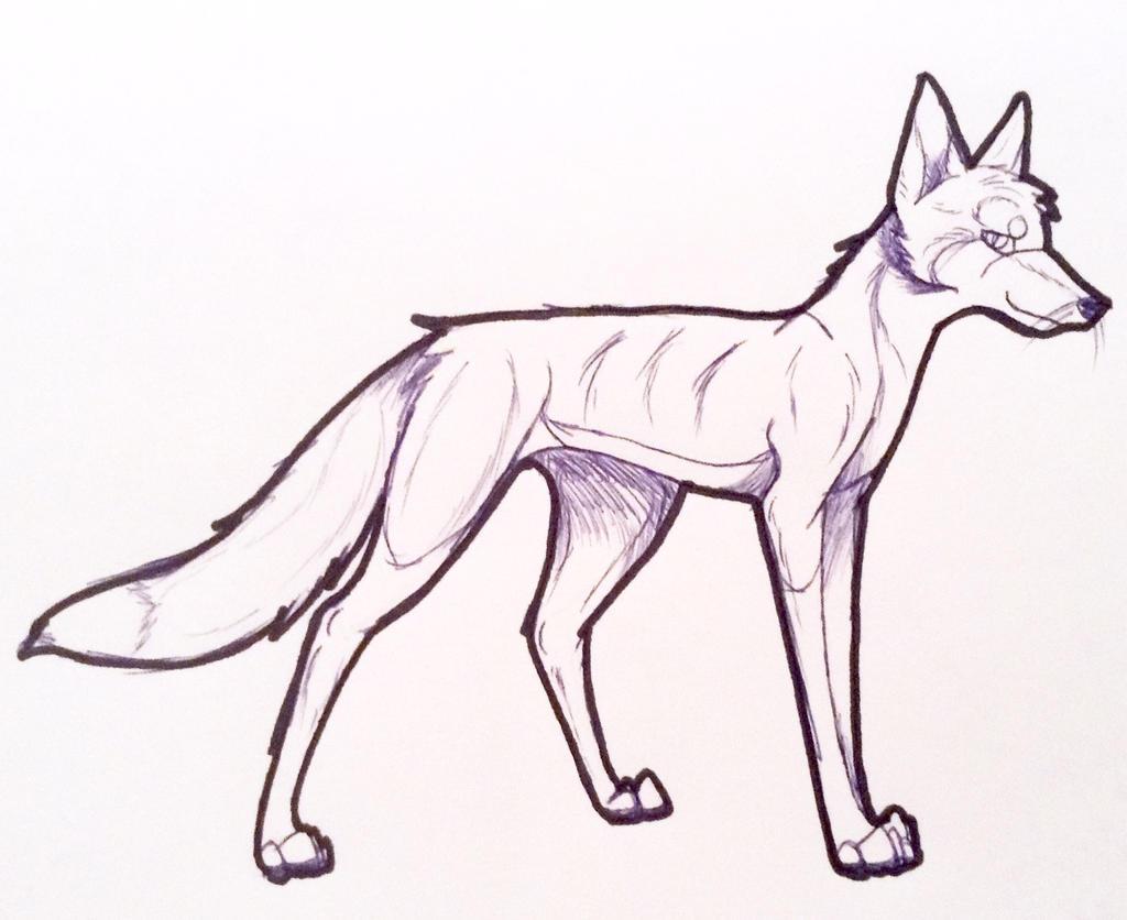 Line art-future fox oc~ by yugiohfreakXD