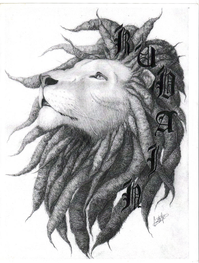 Lion with dreads tattoo drawings - photo#4