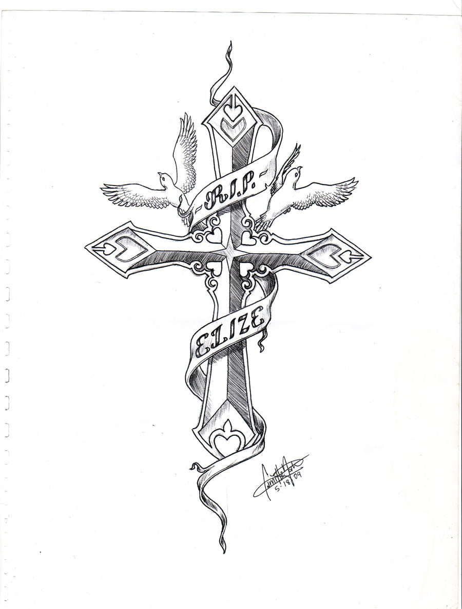 Cross tattoo two doves by massermane on deviantart for Two doves tattoo
