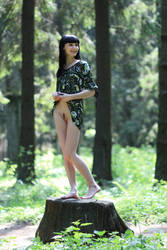 girl in the woods by tamerlanych