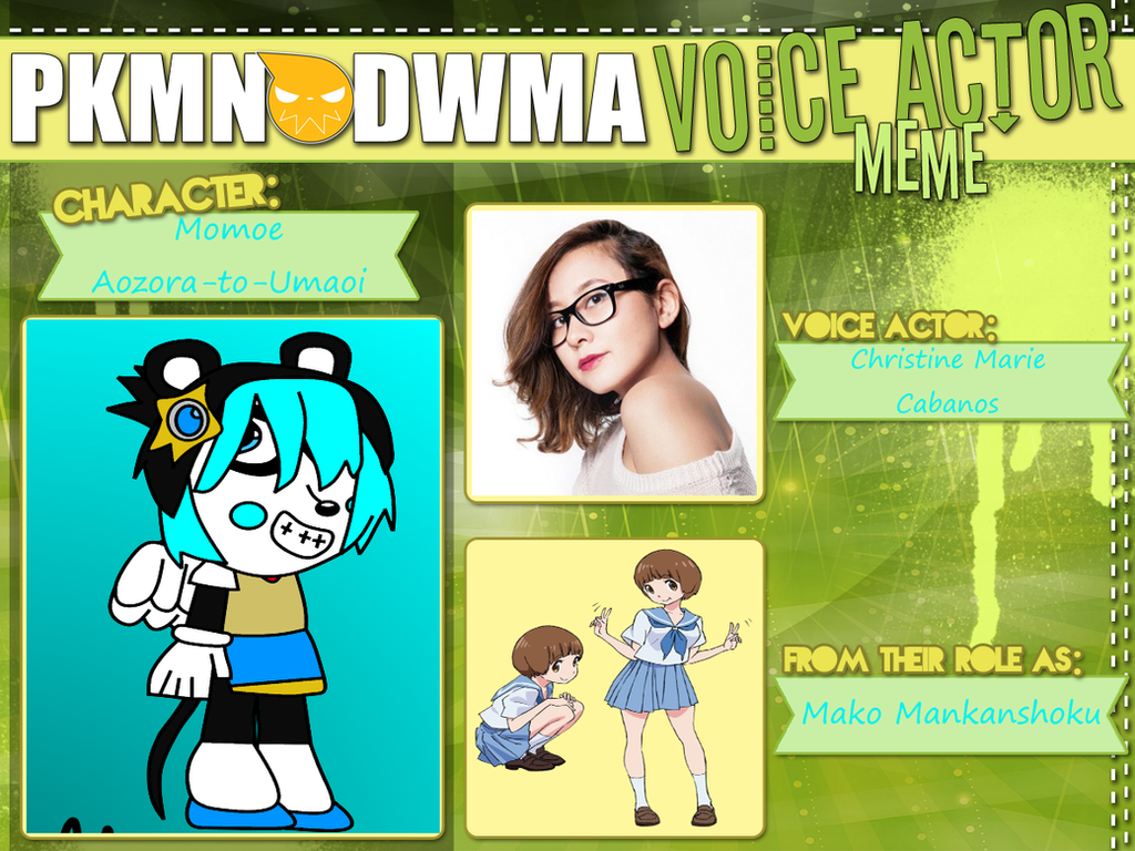 Momoe's Voice Actor Meme by amen95