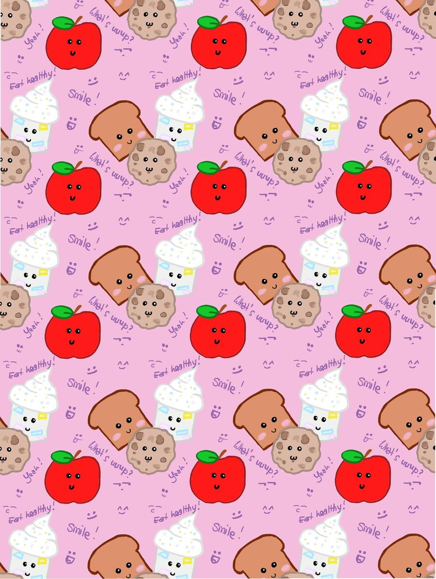 Cute Food Pattern By Brunni87