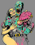 Zombie Heart Attack by droopbomb
